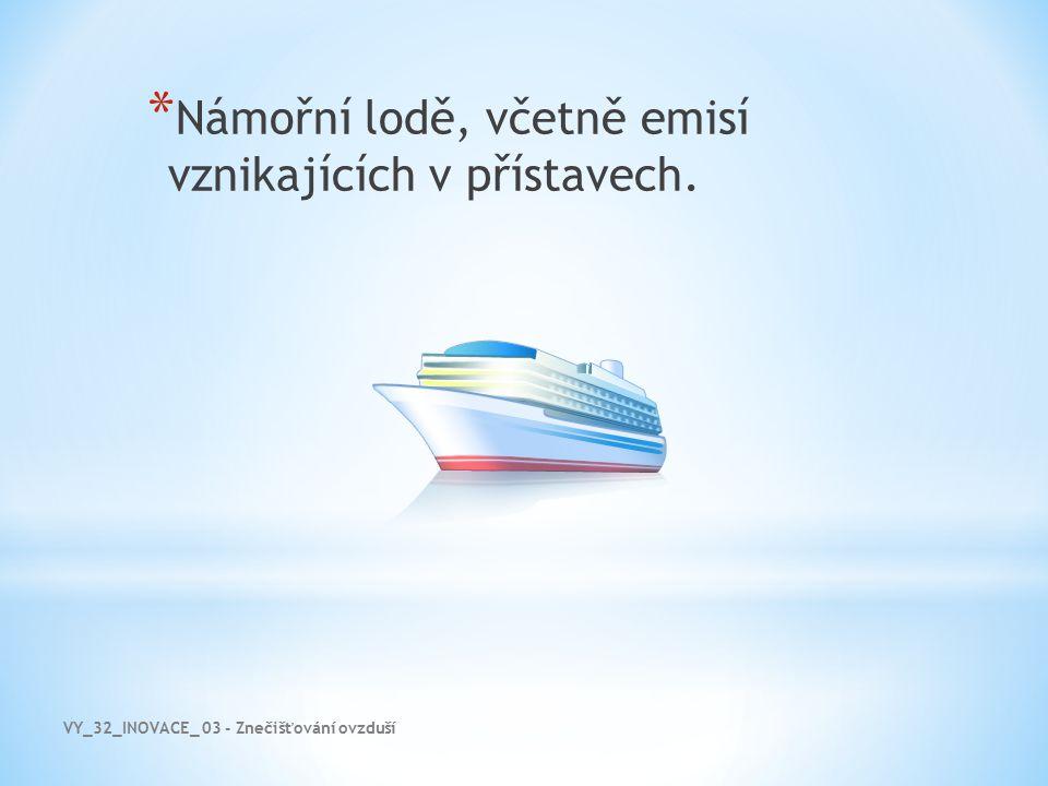 VY_32_INOVACE_ 03 - Znečišťování ovzduší * Námořní lodě, včetně emisí vznikajících v přístavech.
