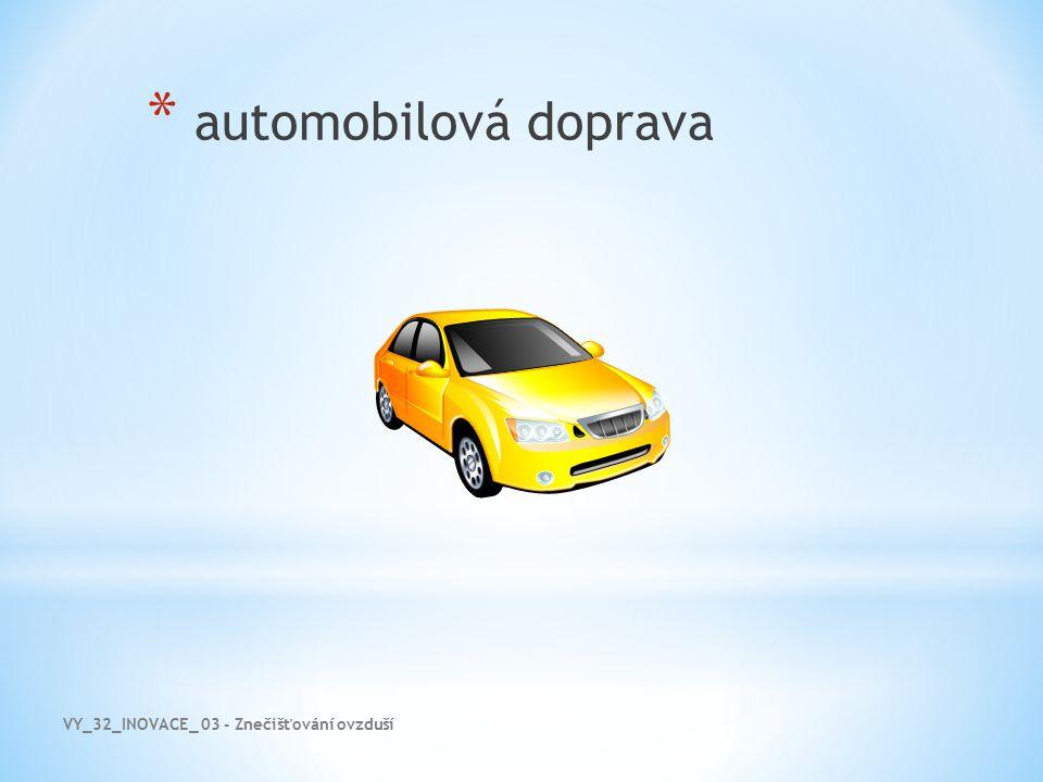 VY_32_INOVACE_ 03 - Znečišťování ovzduší * automobilová doprava