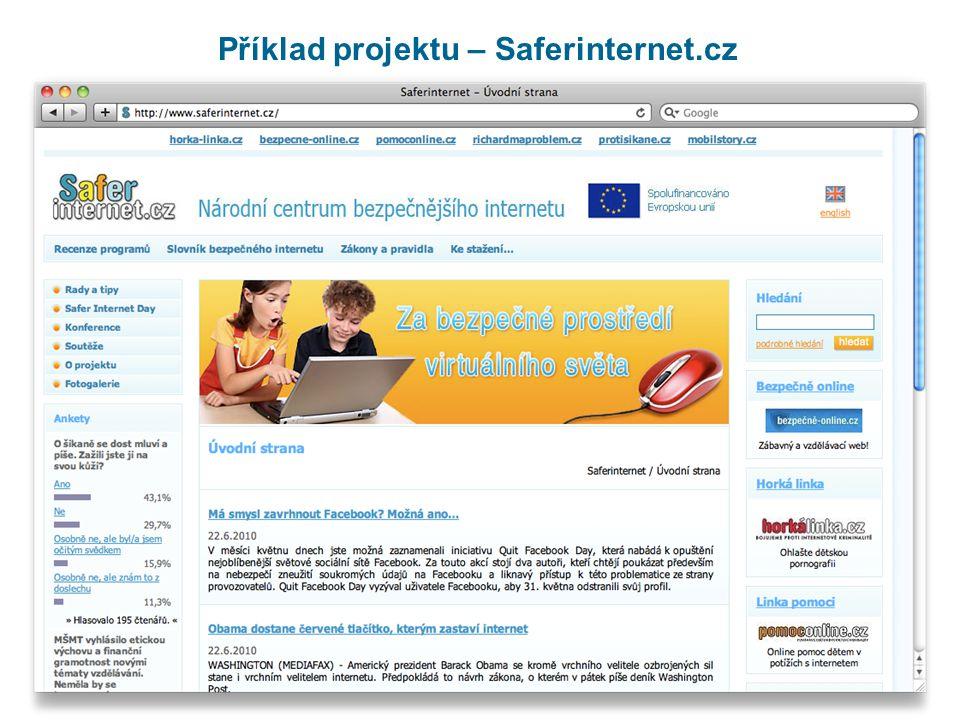 Příklad projektu – Saferinternet.cz