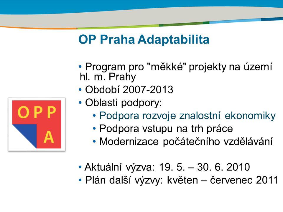 OP Praha Adaptabilita Program pro