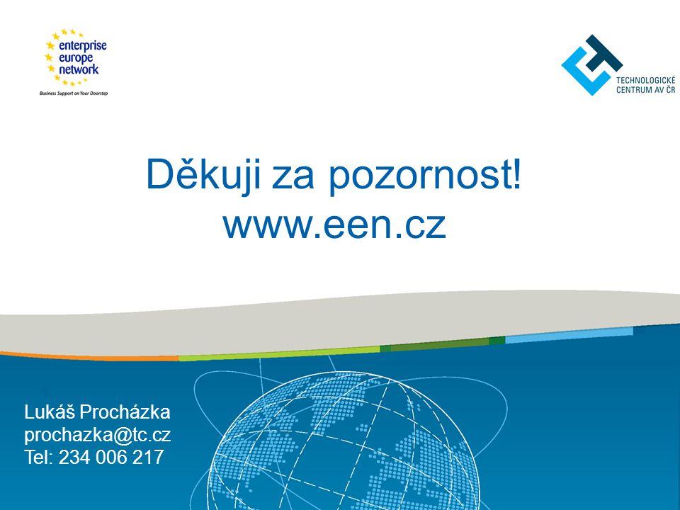 Děkuji za pozornost! www.een.cz Lukáš Procházka prochazka@tc.cz Tel: 234 006 217