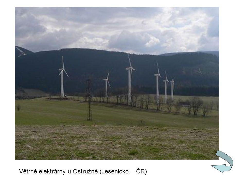 Větrné elektrárny u Ostružné (Jesenicko – ČR)