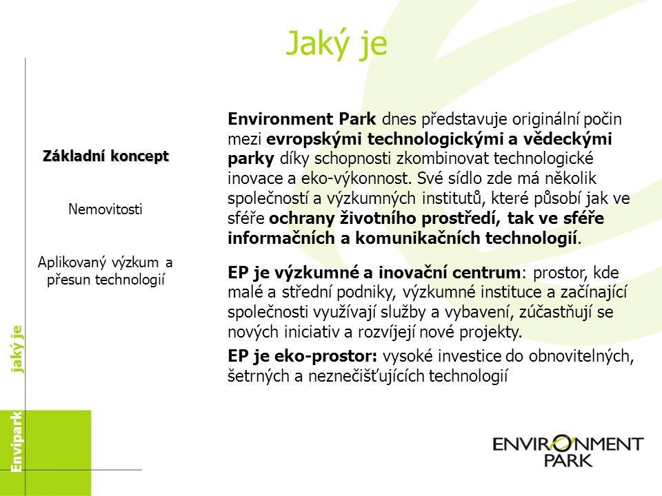 Obsah Historie Enviparku - Jaký byl - Jaký je Struktura zelených budov Aktivity Enviparku: - Přesun technologií - Laboratoř Vize dalšího vývoje