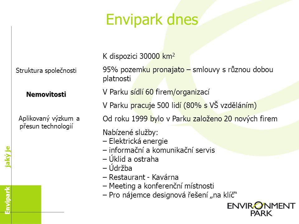 Společnost Společnost byla založena v roce 1996, aby se zabývala výstavbou výzkumného a vědeckého parku při použití fondů EU ERDF CEE 2081/93 – Činnost 3.1 Technologické Parky - př.