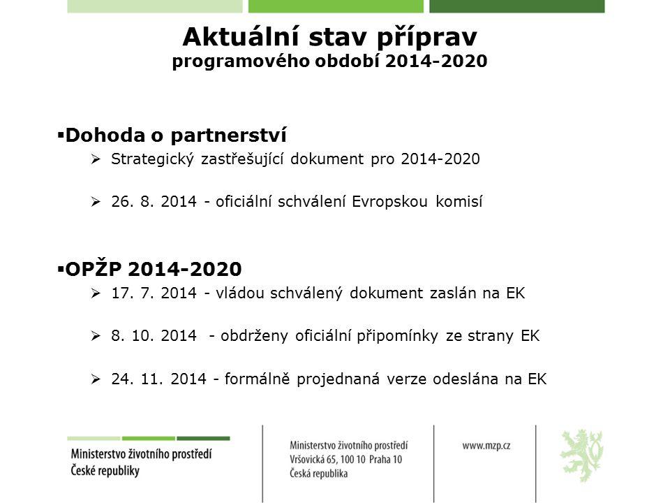  Dohoda o partnerství  Strategický zastřešující dokument pro 2014-2020  26.