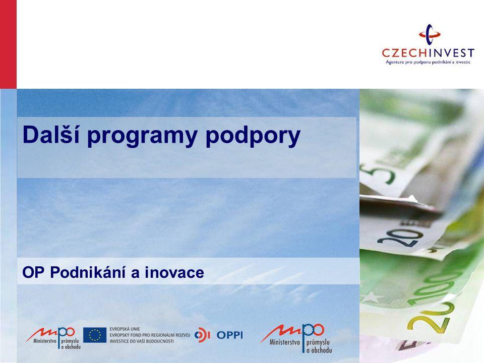 Další programy podpory OP Podnikání a inovace