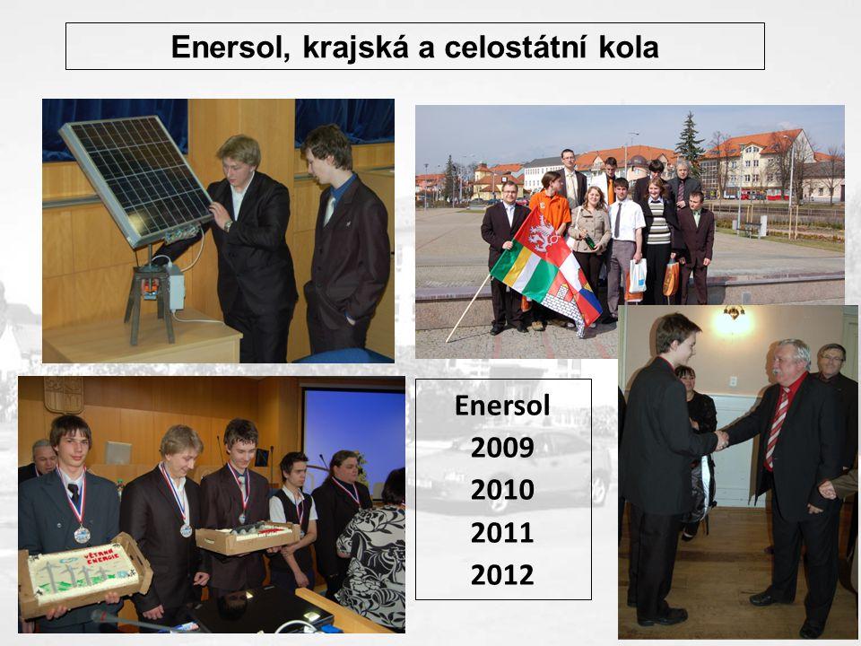 Enersol, krajská a celostátní kola Enersol 2009 2010 2011 2012