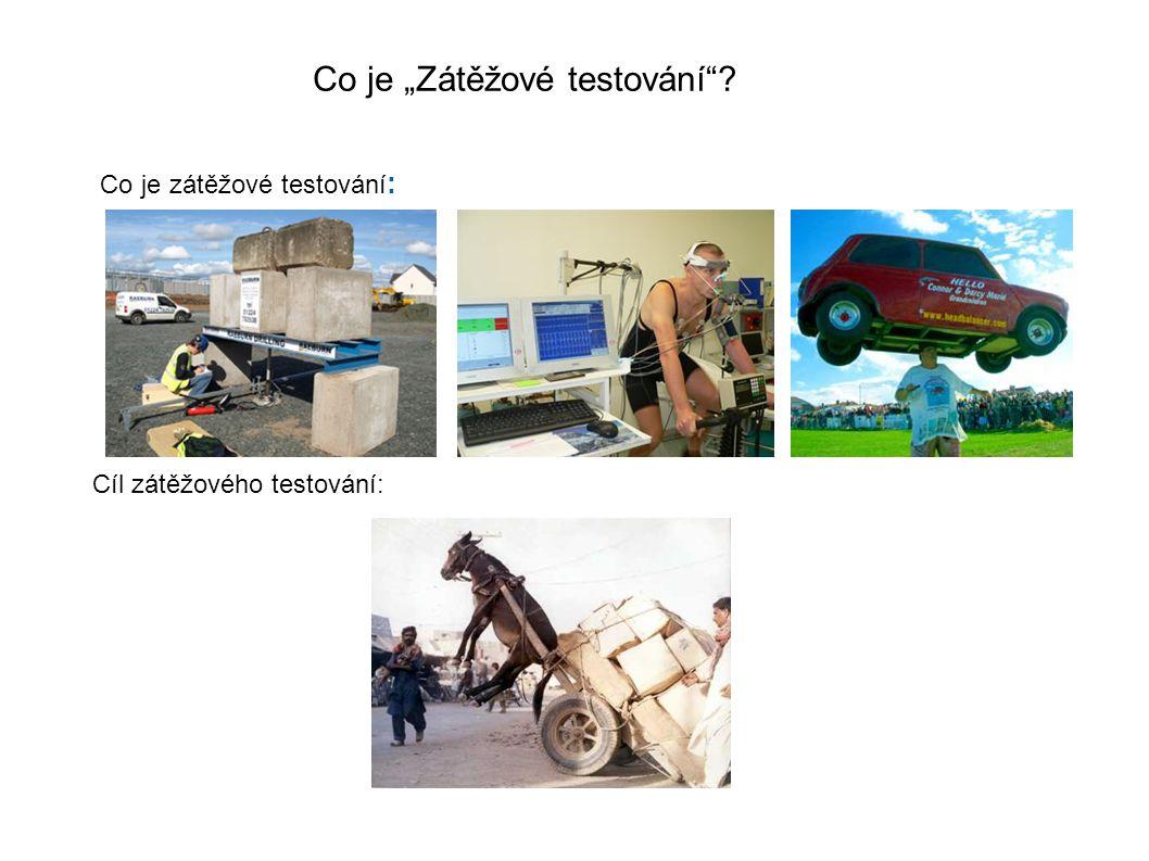 """Co je """"Zátěžové testování Cíl zátěžového testování: Co je zátěžové testování :"""