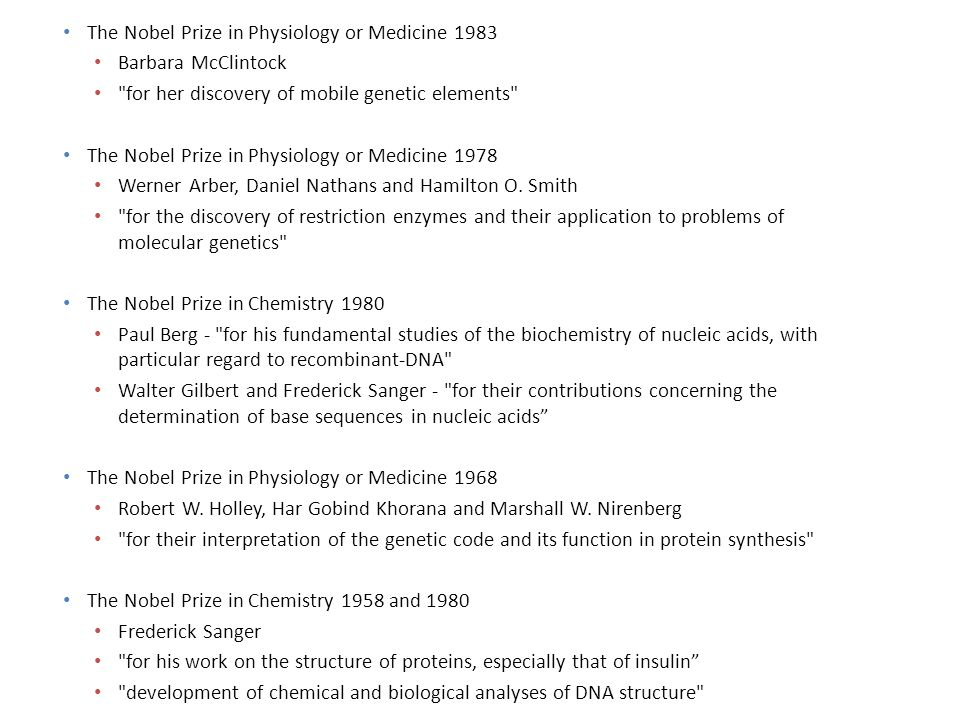 The Nobel Prize in Physiology or Medicine 1983 Barbara McClintock