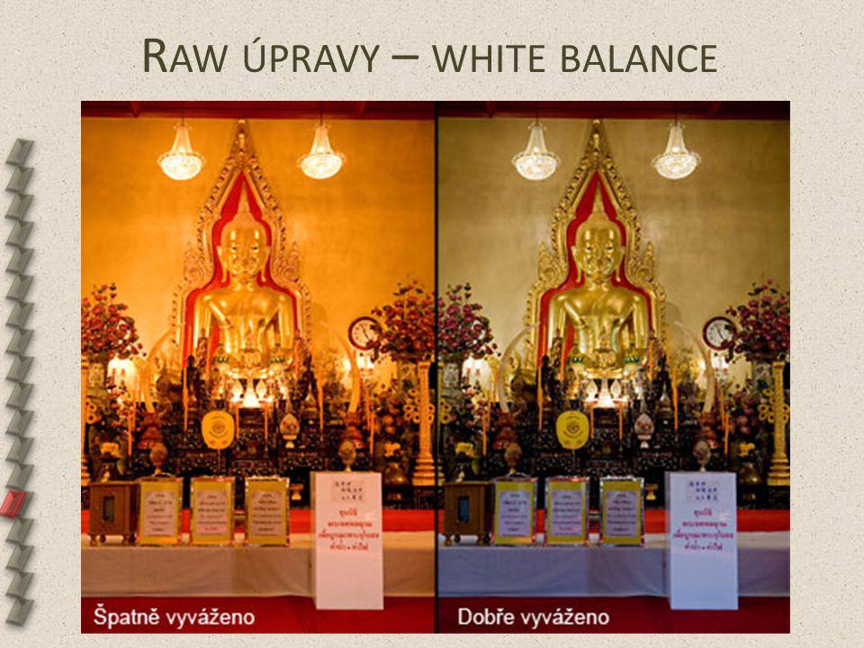 R AW ÚPRAVY – WHITE BALANCE