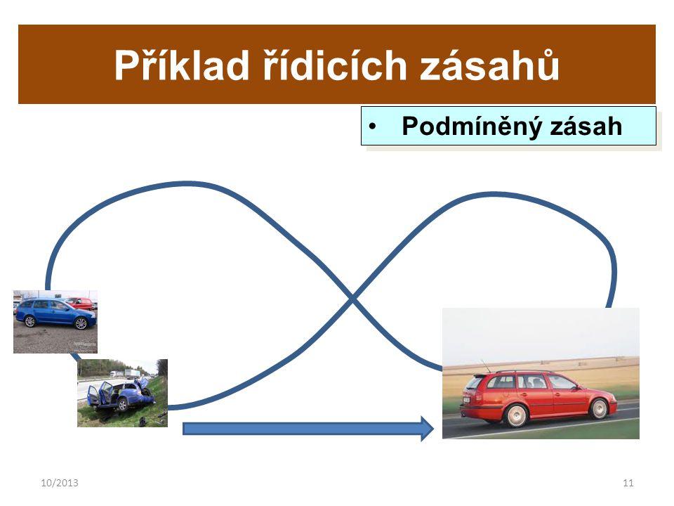 10/201311 Příklad řídicích zásahů Podmíněný zásah