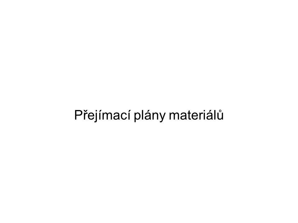 Přejímací plány materiálů