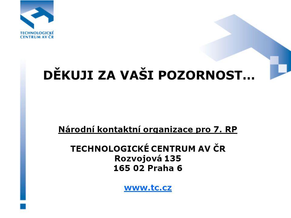 DĚKUJI ZA VAŠI POZORNOST… Národní kontaktní organizace pro 7.