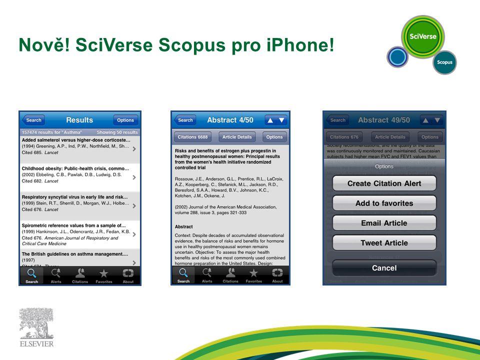 Nově! SciVerse Scopus pro iPhone!