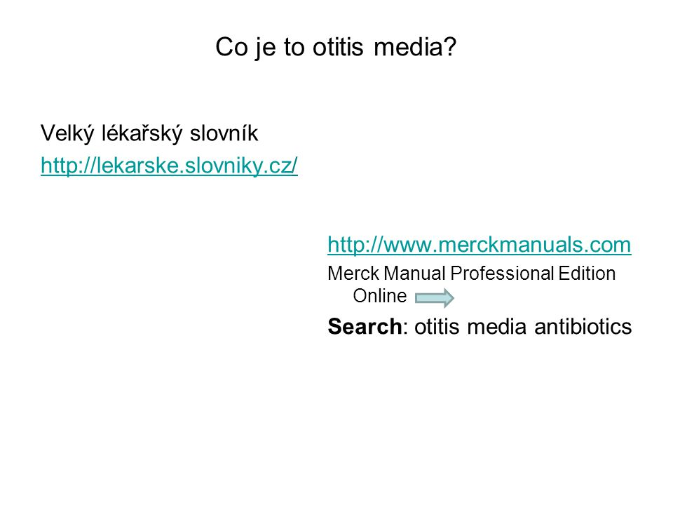 Co je to otitis media.