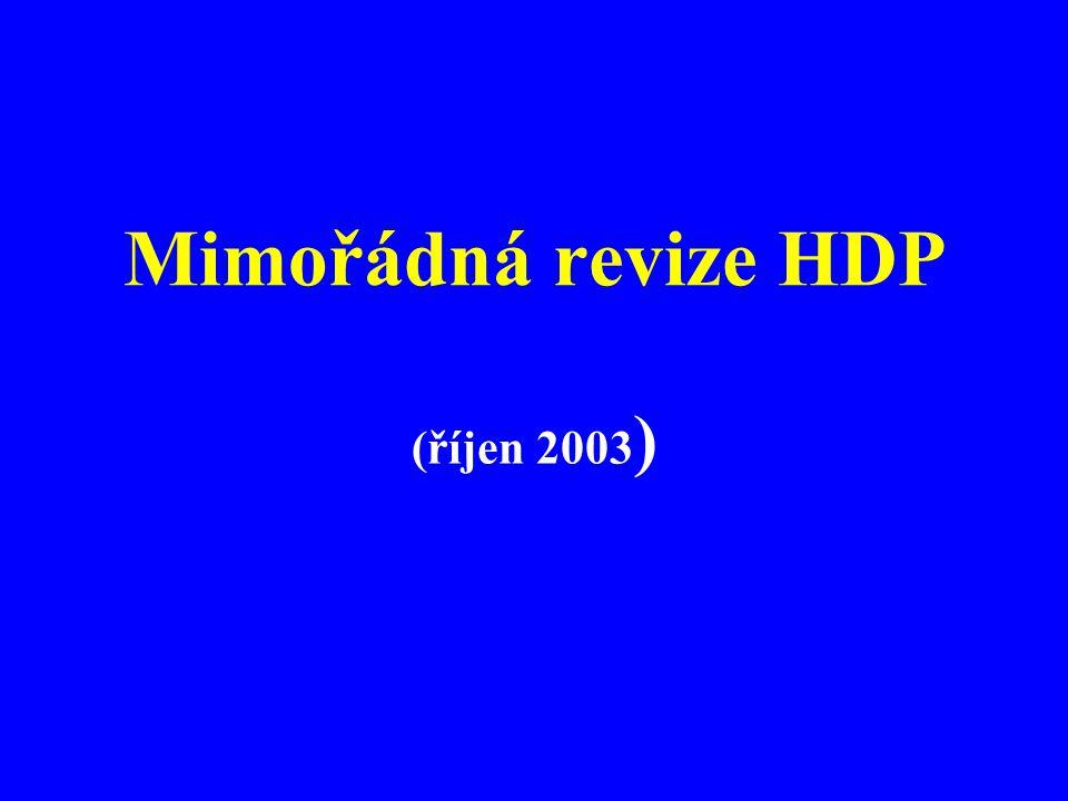 Mimořádná revize HDP (říjen 2003 )