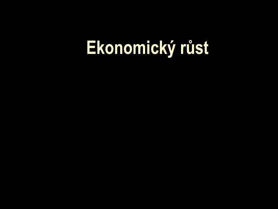 """Problematika růstu hospodářský růst = zvyšování potenciálního produktu v dané ekonomice cíl teorie růstu – zjistit příčiny hospodářského růstu první náznaky teorie růstu – Adam Smith: """"Pojednání o původu a podstatě bohatství národů tehdy hlavními faktory zvyšování bohatství (množství vyrobených statků a služeb) -dělba práce a akumulace kapitálu"""