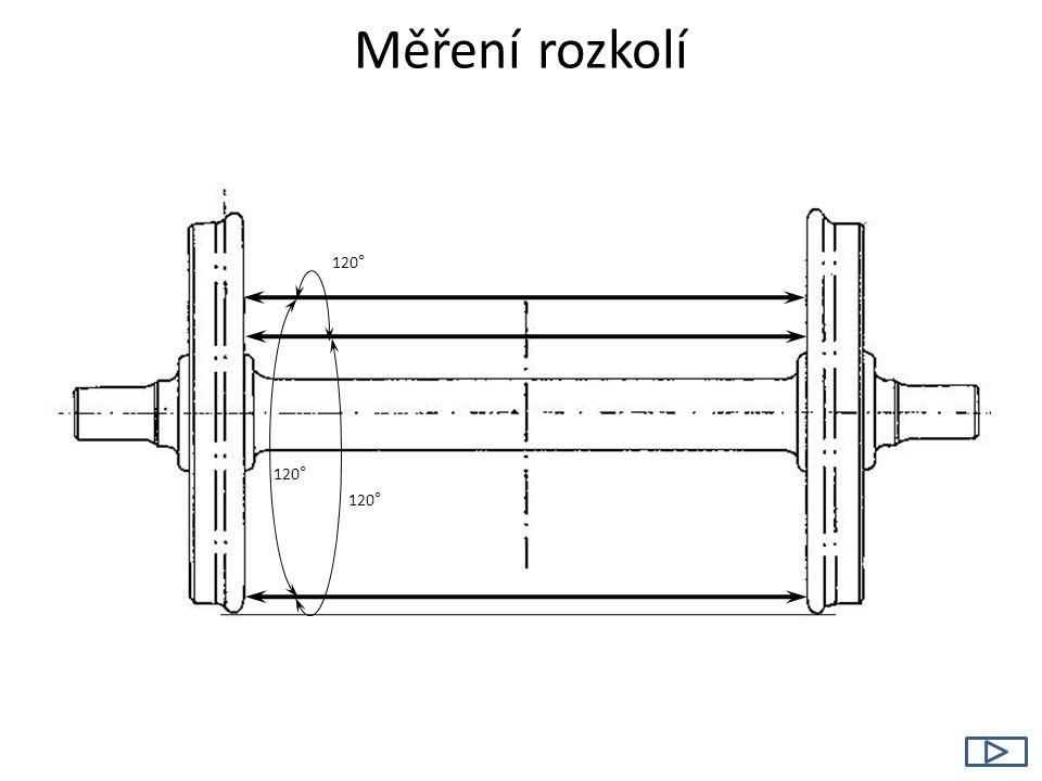 Měření rozkolí 120 °