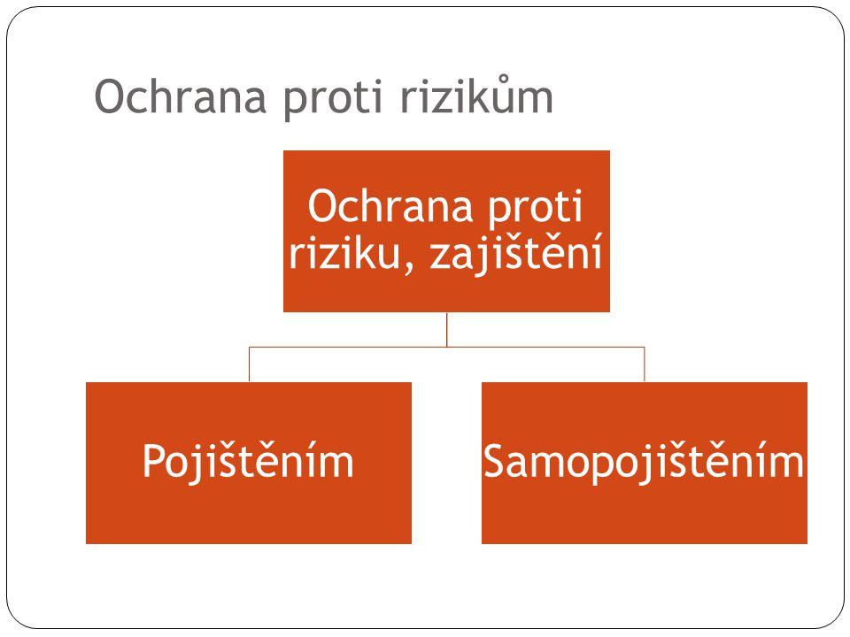 Ochrana proti rizikům Ochrana proti riziku, zajištění PojištěnímSamopojištěním