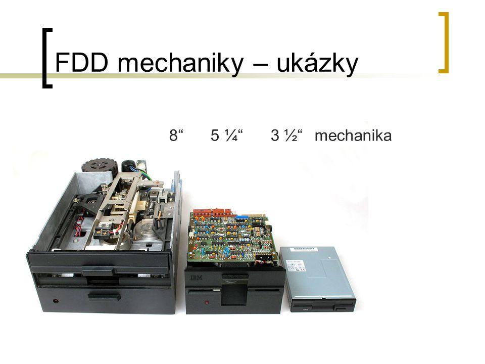 "FDD mechaniky – ukázky 8"" 5 ¼"" 3 ½"" mechanika"