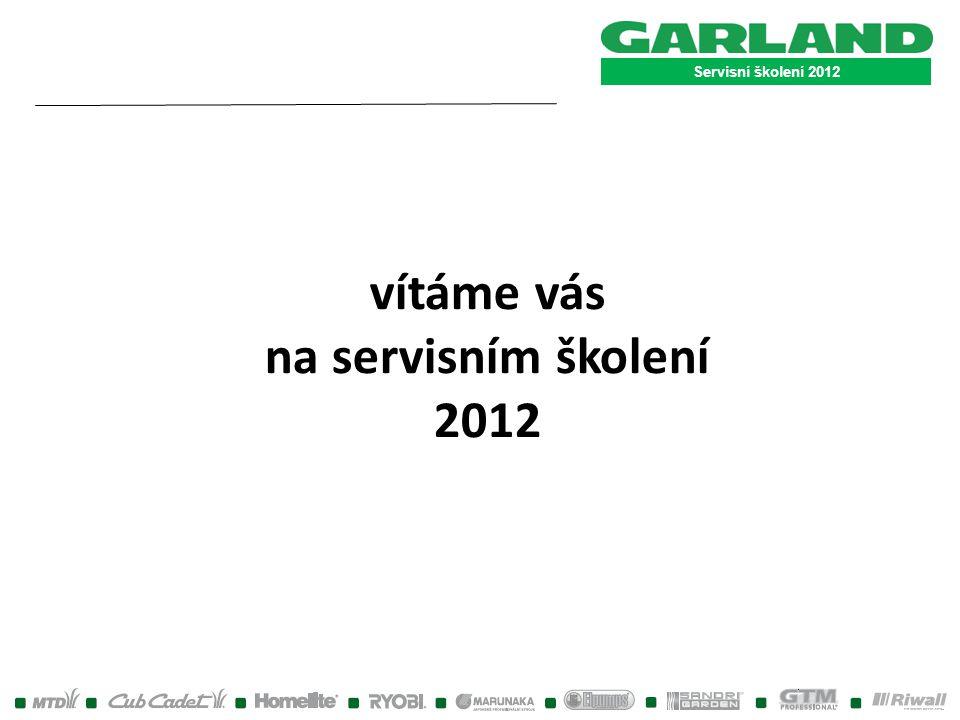 """Servisní školení 2012 Rozkresy strojů a objednávky nd nenajdete-li některý z požadovaných dílů v našem objednávkovém systému, napište e-mail s příslušným číslem a popisem dílu (postačí text """"žádám o zadání do systému) na příslušnou e-mailovou adresu : pro """"zahradu : trenka.r.@garland.cz pro """"nářadí : bodlak@garland.cz Díl bude do systému zadán a vám bude zasláno potvrzení o zadání."""