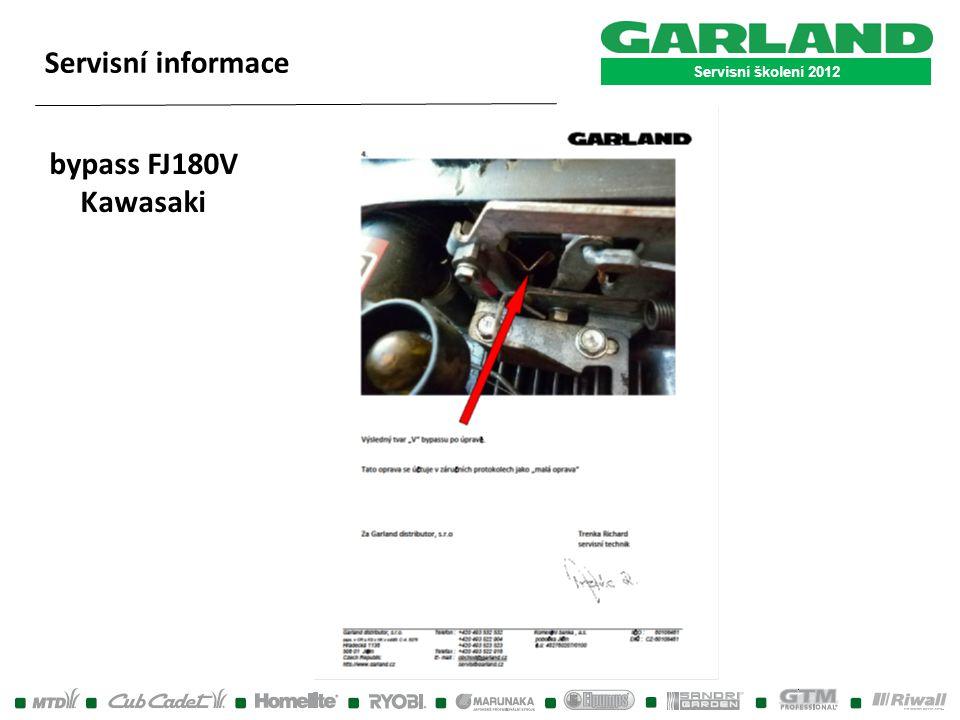 Servisní školení 2012 Servisní informace bypass FJ180V Kawasaki