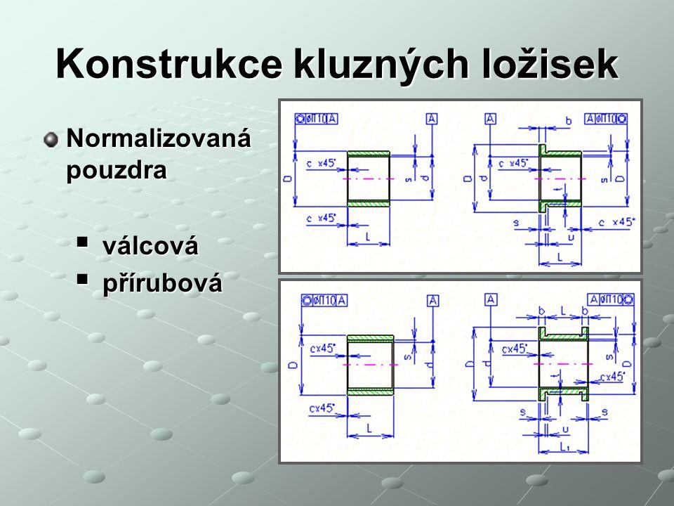 Konstrukce kluzných ložisek Normalizovaná pouzdra  válcová  přírubová