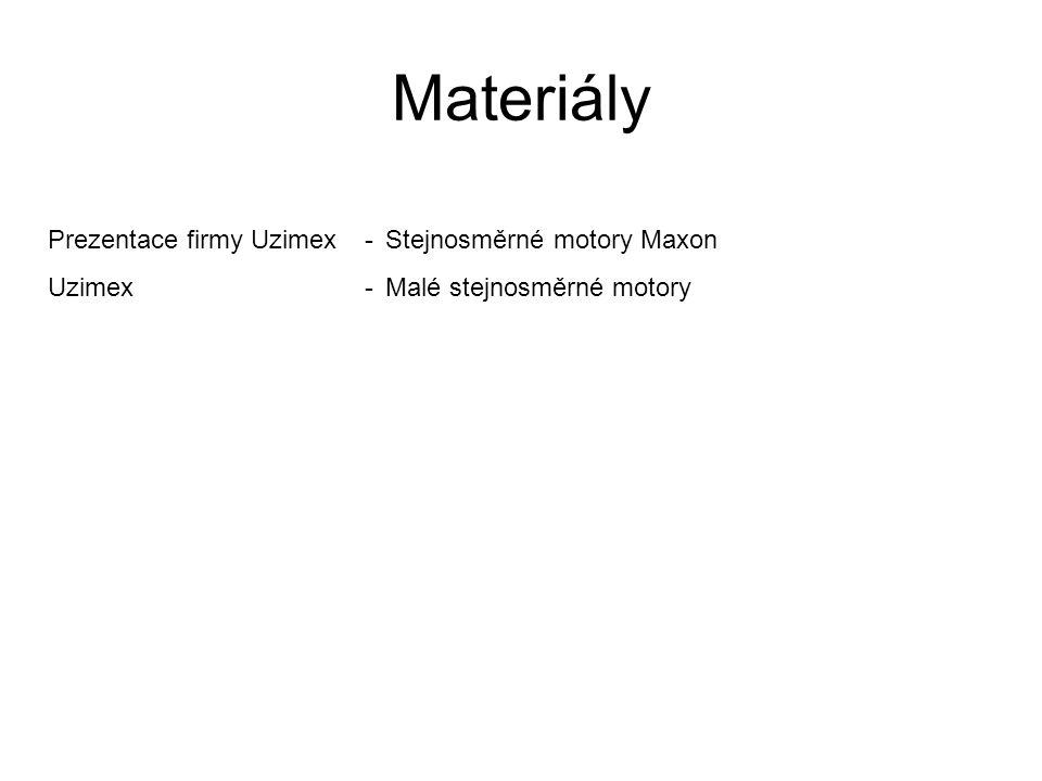Materiály Prezentace firmy Uzimex-Stejnosměrné motory Maxon Uzimex-Malé stejnosměrné motory