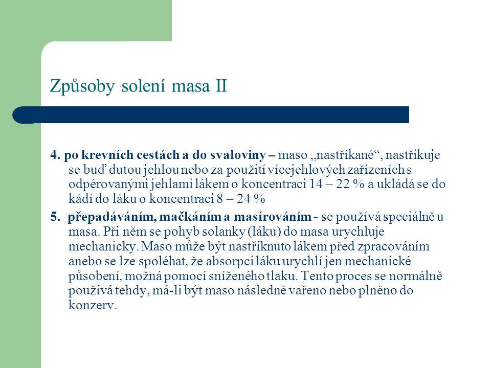 Způsoby solení masa II 4.