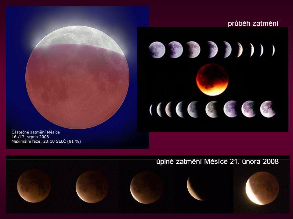 úplné zatmění Měsíce 21. února 2008 průběh zatmění