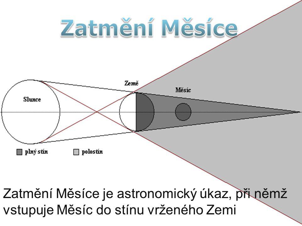 Zatmění Měsíce je astronomický úkaz, při němž vstupuje Měsíc do stínu vrženého Zemi