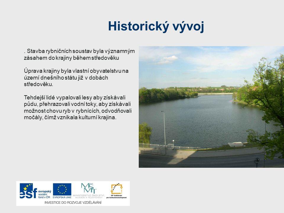 Historický vývoj. Stavba rybničních soustav byla významným zásahem do krajiny během středověku Úprava krajiny byla vlastní obyvatelstvu na území dnešn
