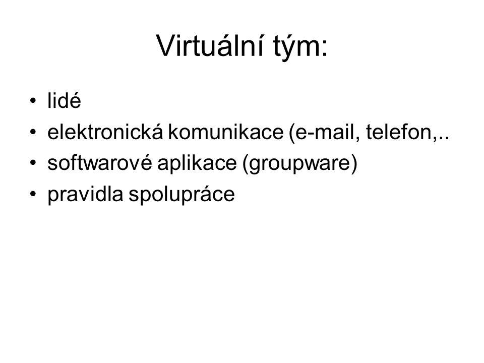 Virtuální tým: lidé elektronická komunikace (e-mail, telefon,..