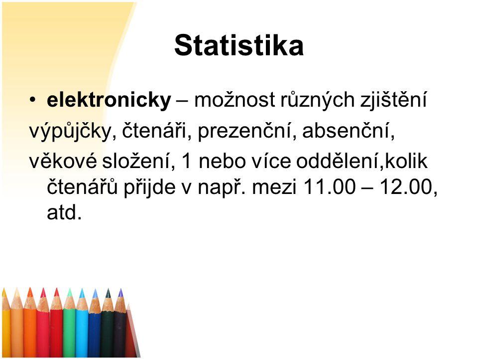 """Statistika Deník knihovny """"Silný deníkdeník """"Tenký deníkdeník"""