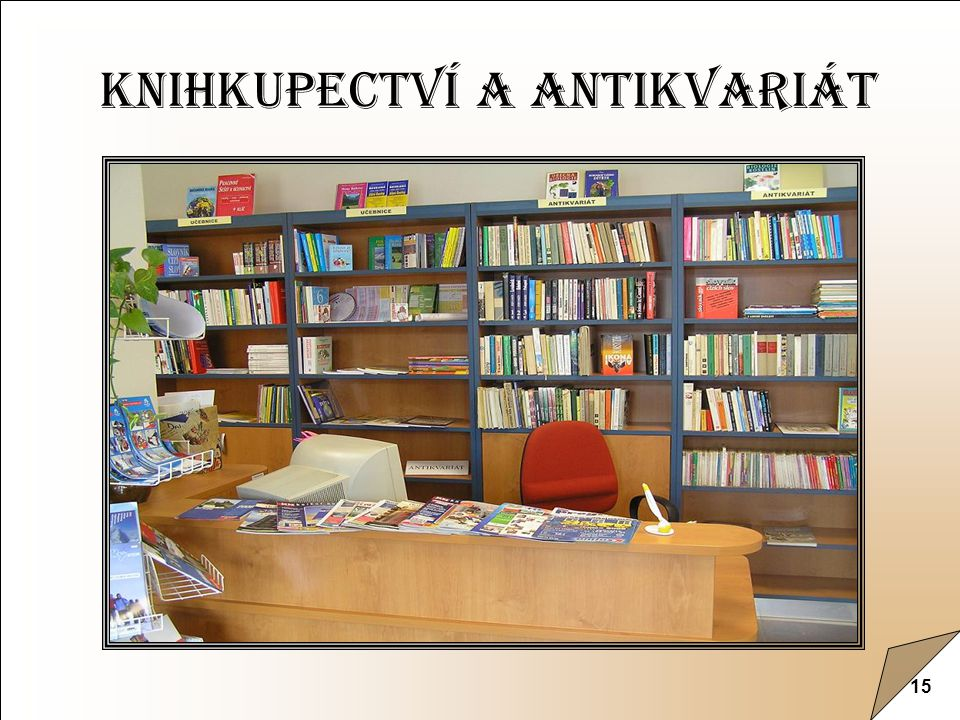 15 Knihkupectví a antikvariát