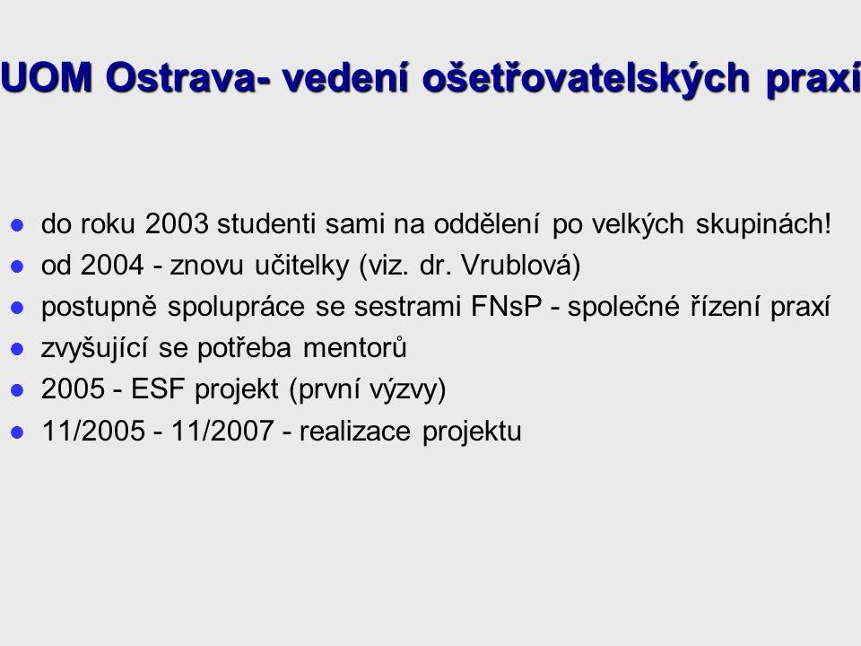 do roku 2003 studenti sami na oddělení po velkých skupinách.