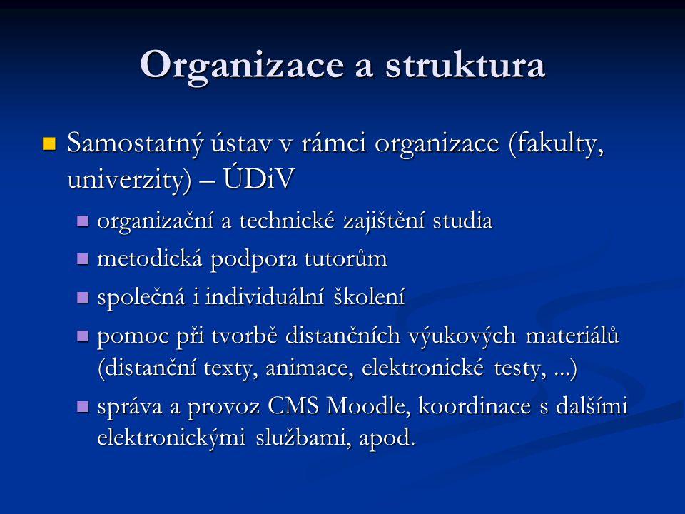 Organizace a struktura Samostatný ústav v rámci organizace (fakulty, univerzity) – ÚDiV Samostatný ústav v rámci organizace (fakulty, univerzity) – ÚD