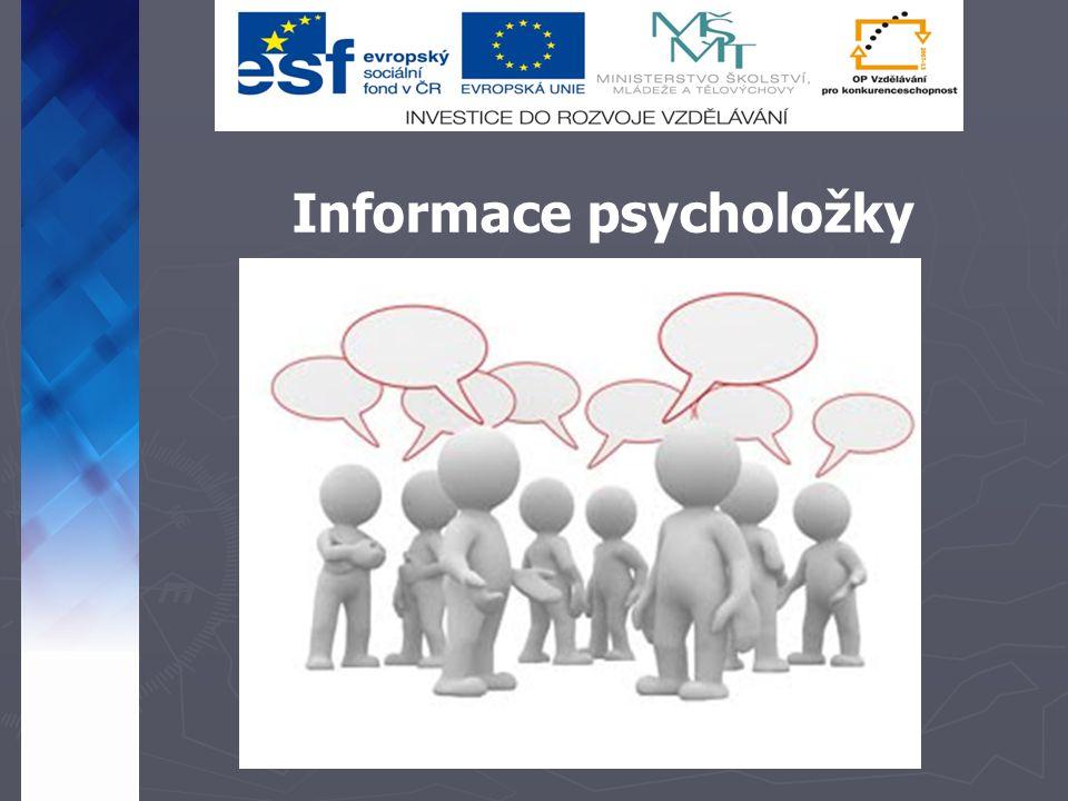 Informace psycholožky