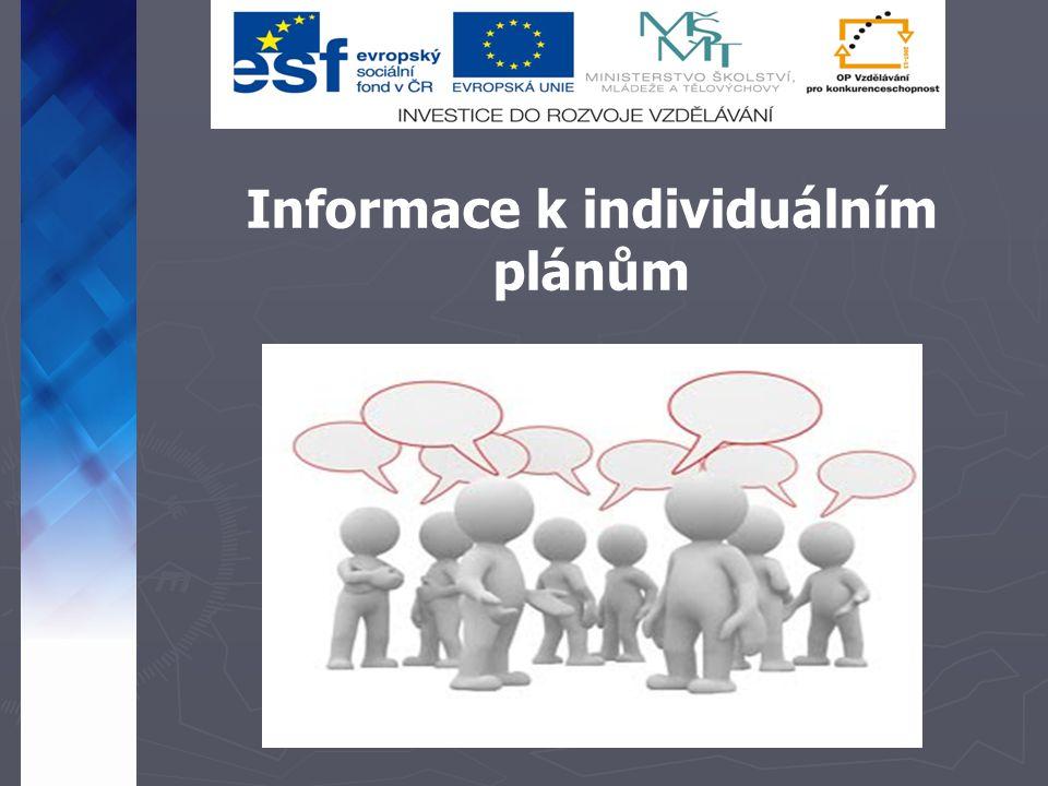 Informace k individuálním plánům