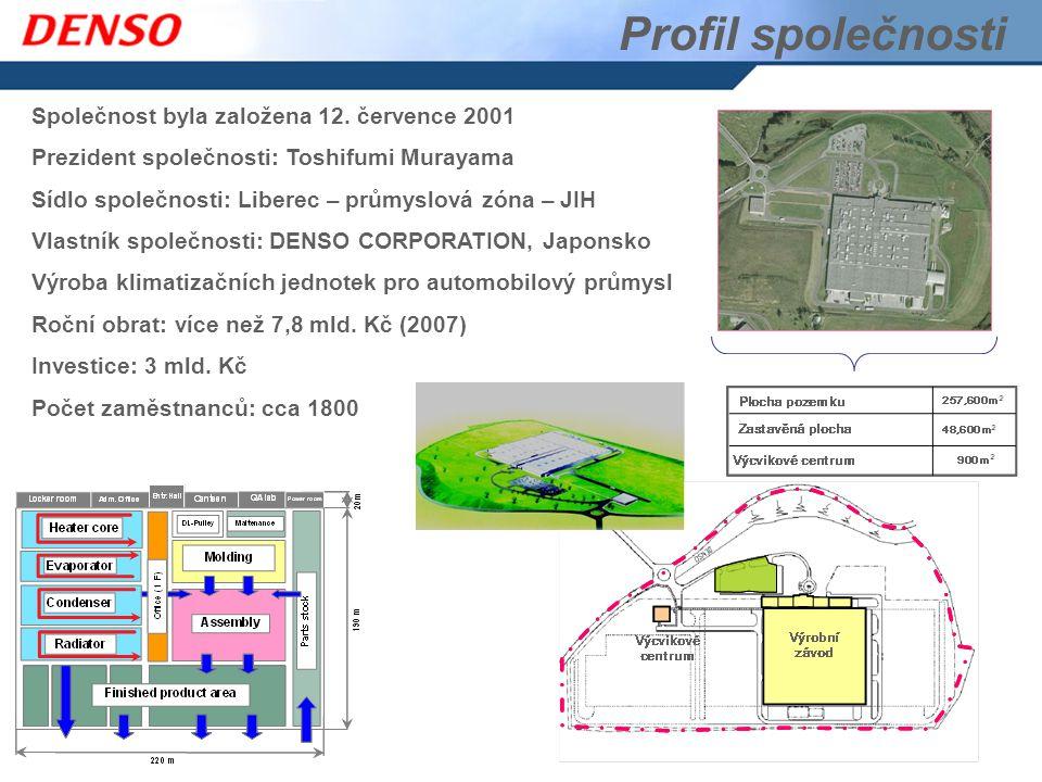 Profil společnosti Společnost byla založena 12. července 2001 Prezident společnosti: Toshifumi Murayama Sídlo společnosti: Liberec – průmyslová zóna –