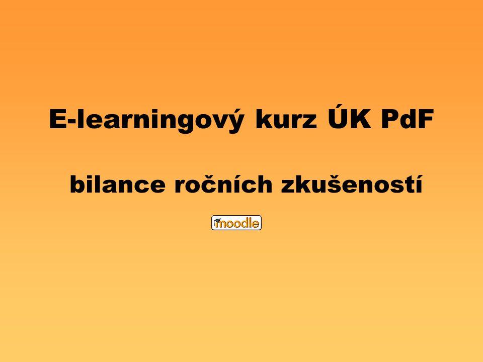 E-learningový kurz ÚK PdF bilance ročních zkušeností