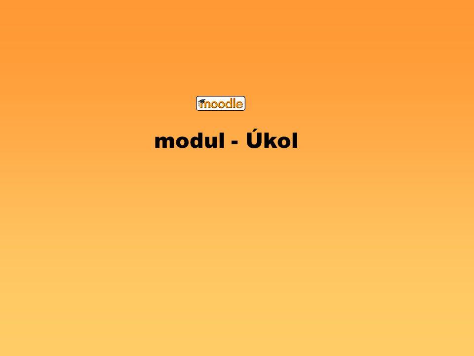 modul - Úkol