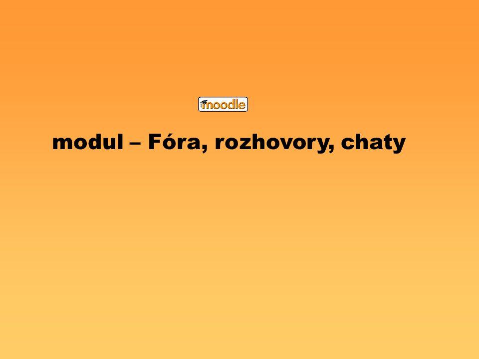 modul – Fóra, rozhovory, chaty