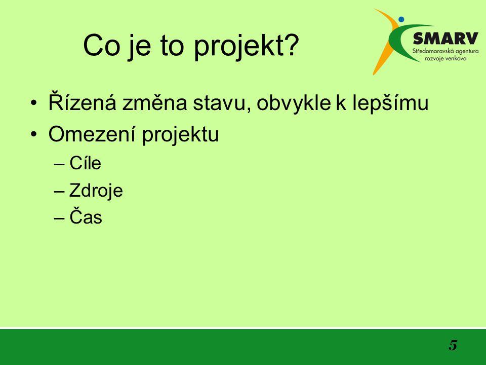 6 Projektový cyklus Každý projekt prochází určitým vývojem 1.