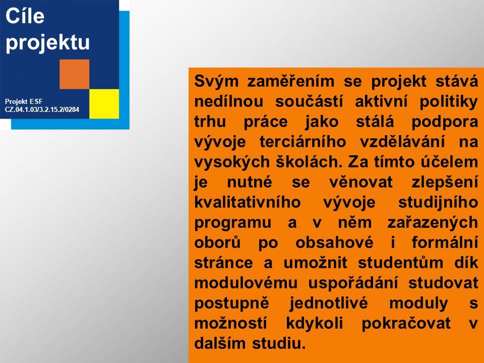 Svým zaměřením se projekt stává nedílnou součástí aktivní politiky trhu práce jako stálá podpora vývoje terciárního vzdělávání na vysokých školách. Za
