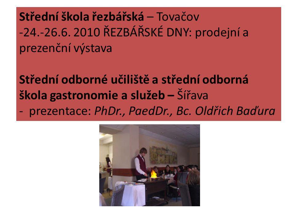 Střední škola řezbářská – Tovačov -24.-26.6.