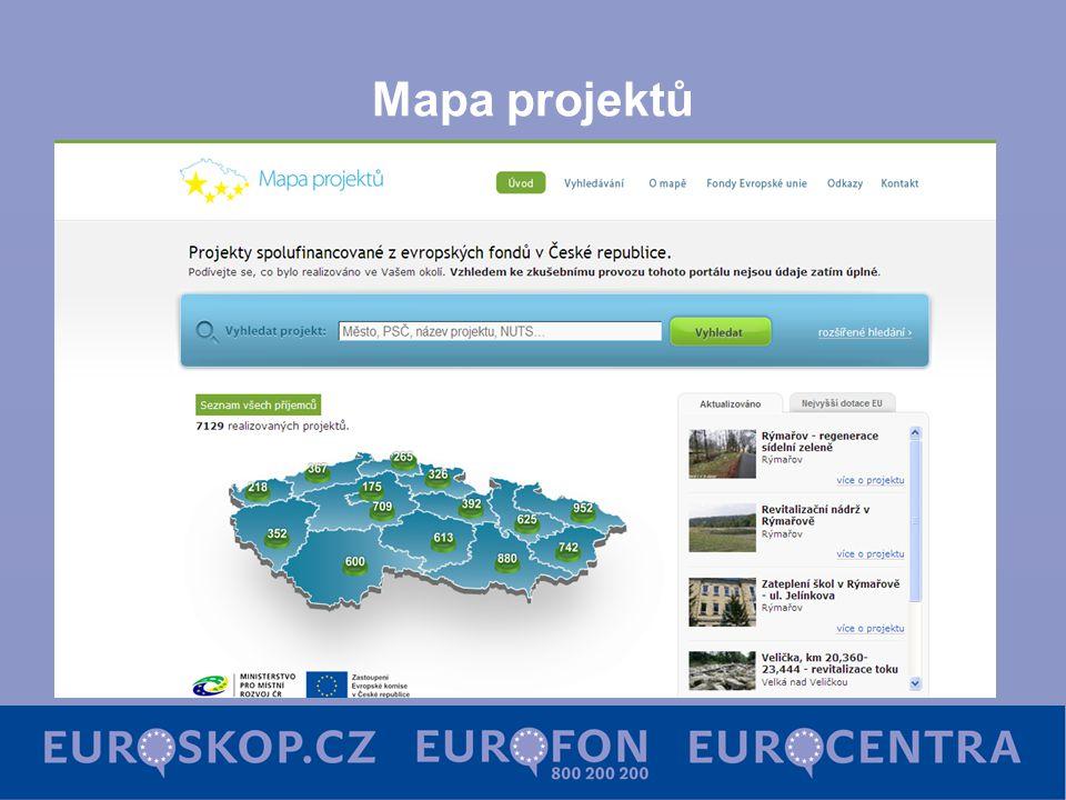 Mapa projektů