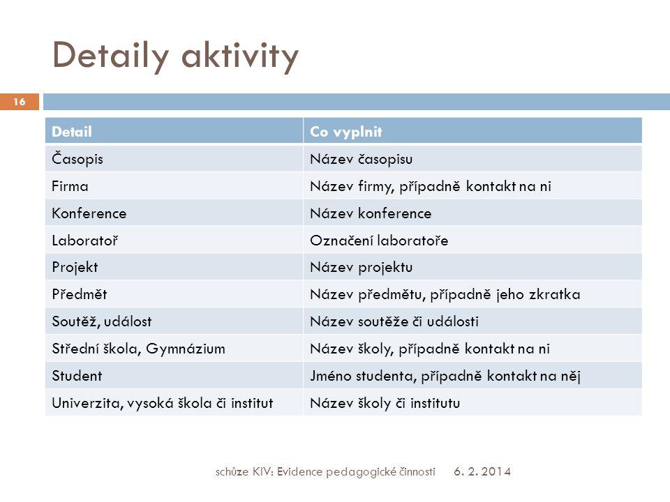 Detaily aktivity 6. 2.