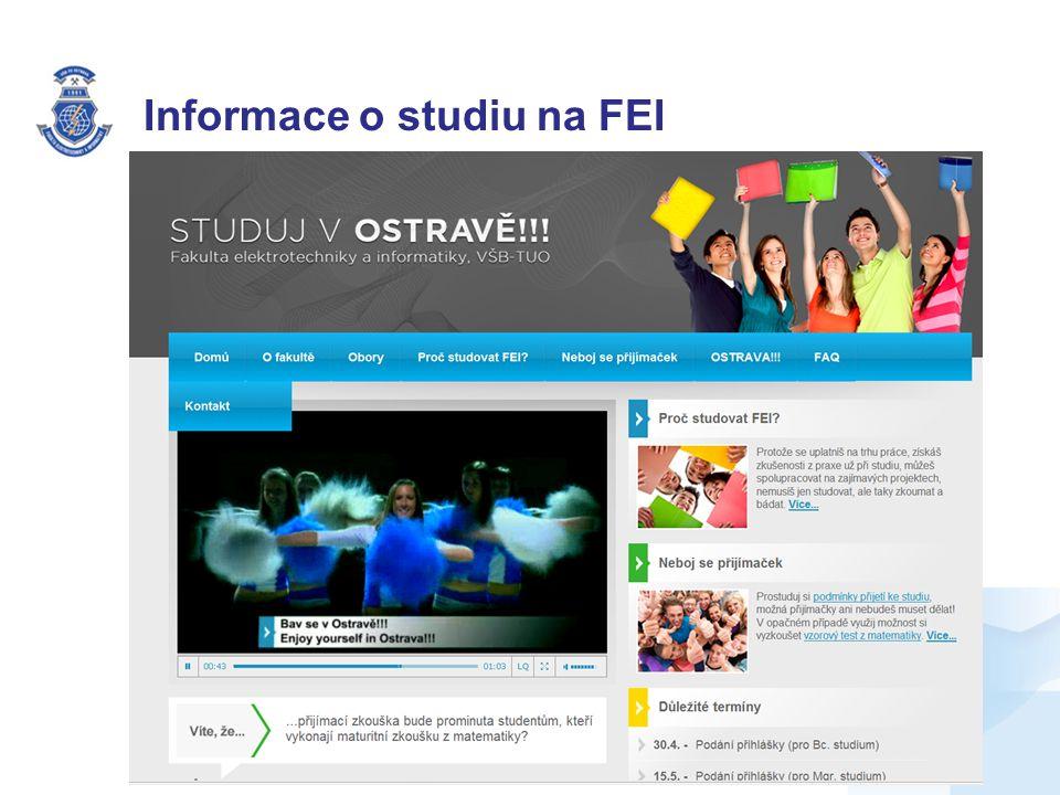 Informace o studiu na FEI