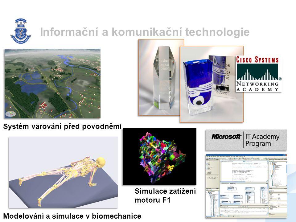 Informační a komunikační technologie Systém varování před povodněmi Modelování a simulace v biomechanice Simulace zatížení motoru F1